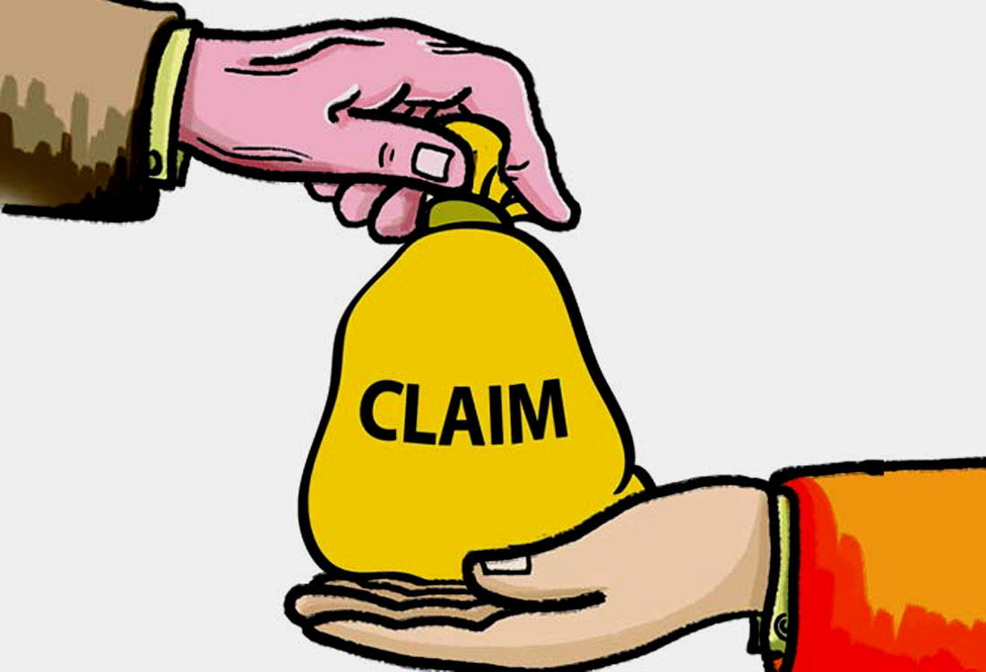Life insurance company with zero due payment of claim amount