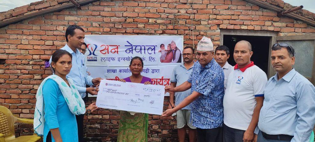 Death claim paid by Sun Nepal