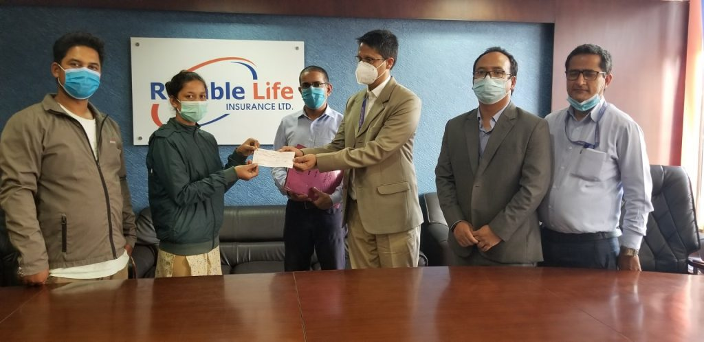 Death claim of Rs.1.4 million piad by Reliable Life