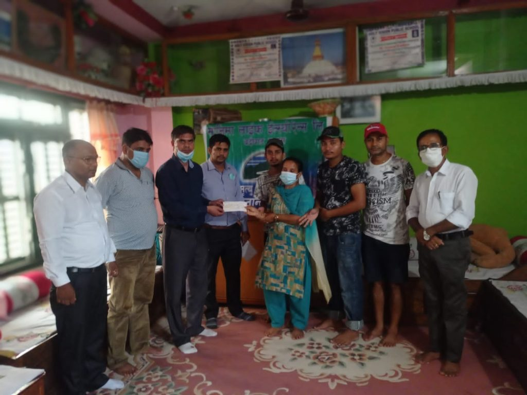 Nominee of Late Sapkota receives Rs.2.07 million