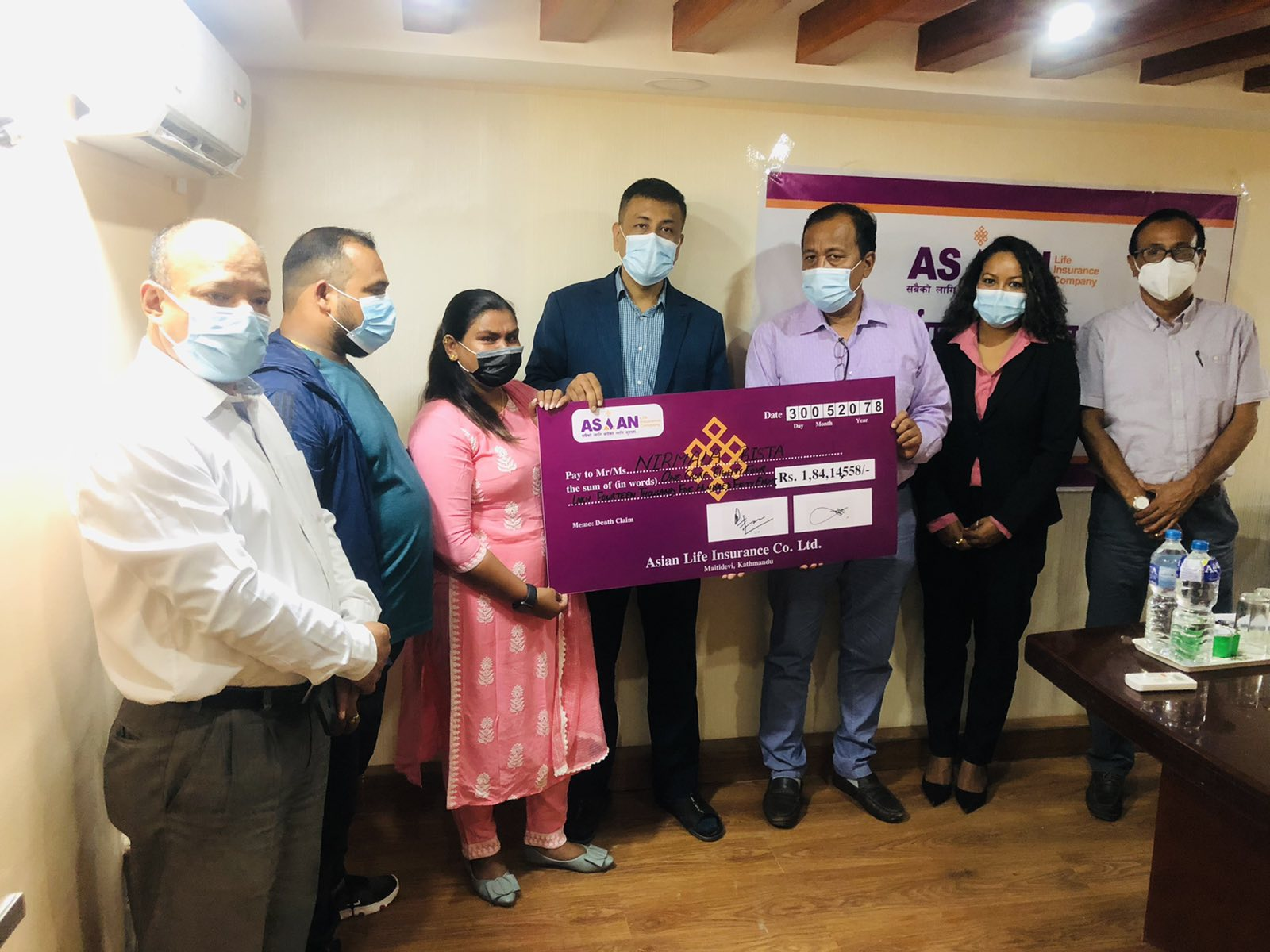 Death Claim of 18.41 million paid by Asian Life Insurance