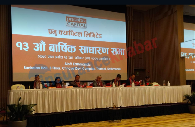 13th AGM of Prabhu Capital Concludes, Proposal for Cash Dividend and Bonus approved